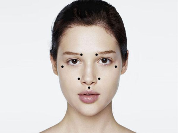 Массаж точек красоты на лице