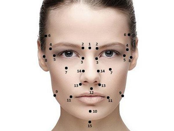 Точечный массаж от морщины лица
